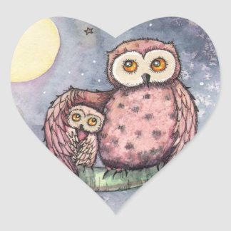 The Owls and the Moon Stickers