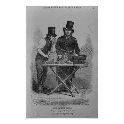 The Oyster Stall Poster