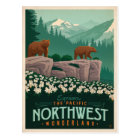 The Pacific Northwest   United States Postcard