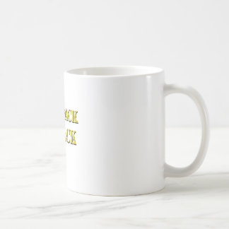 the pack is back cheese text coffee mug