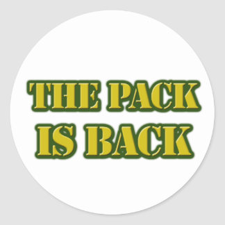the pack is back round sticker