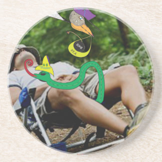 The paddle forest agents fishing trip drink coasters