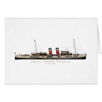 The Paddle Steamer Waverley by Tony Fernandes Card