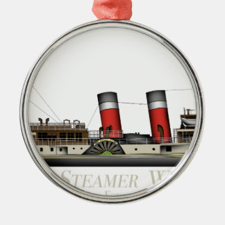 The Paddle Steamer Waverley by Tony Fernandes Christmas Ornament