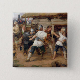 The Pagans killed the first Christians 15 Cm Square Badge