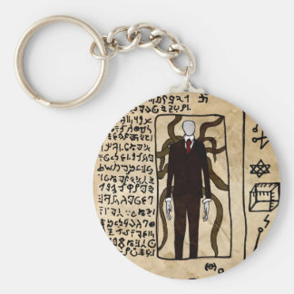 The Pages of the Necronomicon Basic Round Button Key Ring