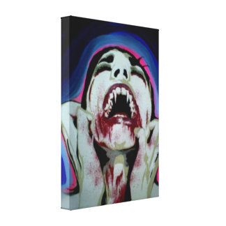 'The Pain of Acceptance' Vampire Canvas Print