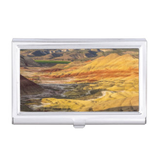 The Painted Hills In The John Day Fossil Beds 3 Business Card Holder