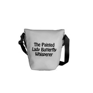 the painted lady butterfly whisperer courier bag