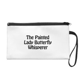 the painted lady butterfly whisperer wristlet