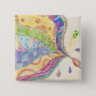 The Painted Quilt 15 Cm Square Badge