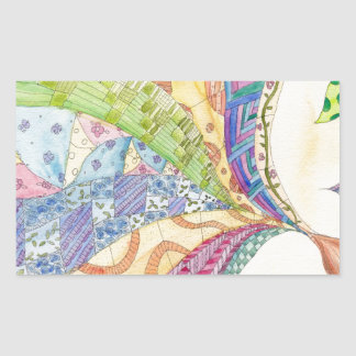 The Painted Quilt Rectangular Sticker