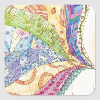 The Painted Quilt Square Sticker