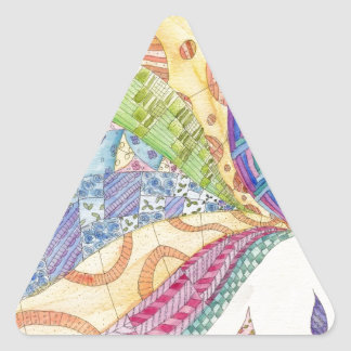 The Painted Quilt Triangle Sticker