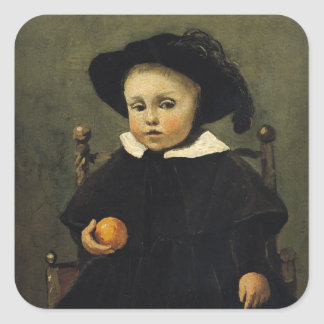 The Painter Adolphe Desbrochers as a Child Square Sticker