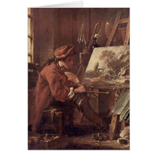 The Painter In His Studio By Francois Boucher Cards