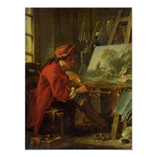 The Painter in his Studio Poster