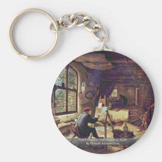 The Painter In His Workshop (Self) Basic Round Button Key Ring