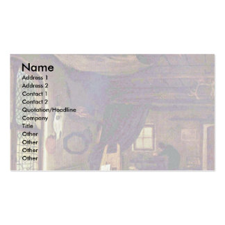 The Painter In His Workshop (Self) Double-Sided Standard Business Cards (Pack Of 100)