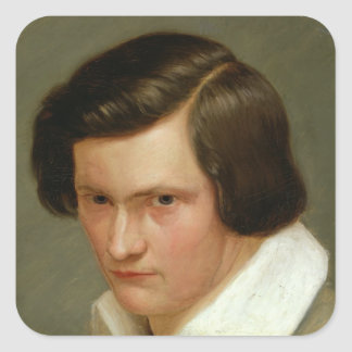 The Painter Otto Speckter , c.1831 Square Sticker