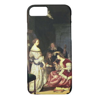 The Painter with his Family, 1675 (oil on panel) iPhone 8/7 Case