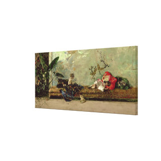 The Painter's Children in the Japanese Salon Canvas Print