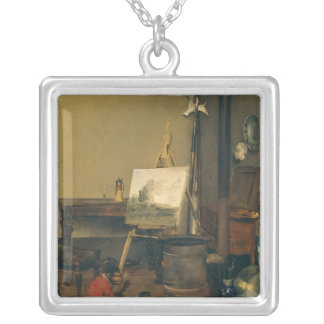 The Painter's Monkey Silver Plated Necklace