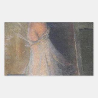 The Painter's Muse by Henri Martin Rectangular Sticker