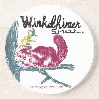 The Painting Squirrel,Winkelhimer Smith Coaster