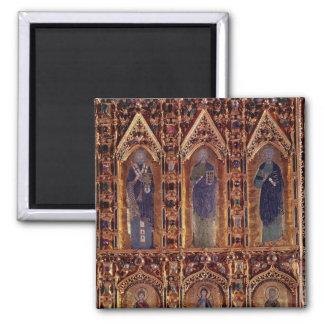 The Pala d Oro detail depicting three apostles Refrigerator Magnet