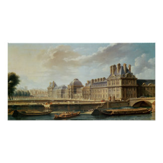 The Palace and Garden of the Tuileries, 1757 Poster