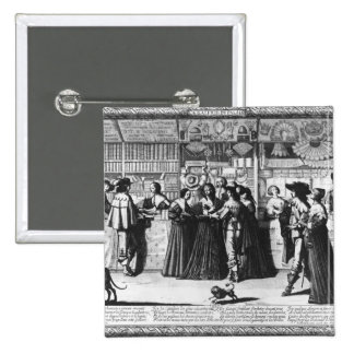 The Palace Gallery, engraved by Le Blond 15 Cm Square Badge