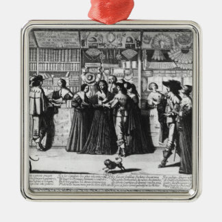 The Palace Gallery, engraved by Le Blond Christmas Ornament