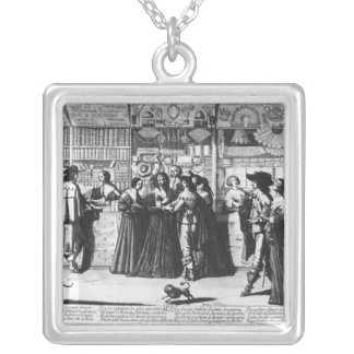 The Palace Gallery, engraved by Le Blond Silver Plated Necklace