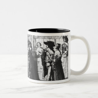 The Palace Gallery, engraved by Le Blond Two-Tone Coffee Mug