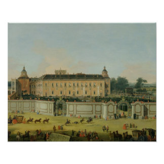 The Palace of Aranjuez, 1756 (oil on canvas) Poster