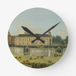 The Palace of Aranjuez, 1756 (oil on canvas) Round Clock