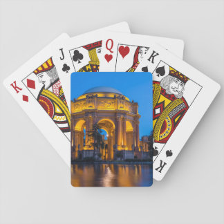 The Palace Of Fine Arts At Dawn Playing Cards