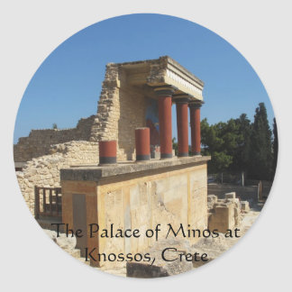 The Palace of Minos at Knossos, Crete,  GREECE Round Sticker
