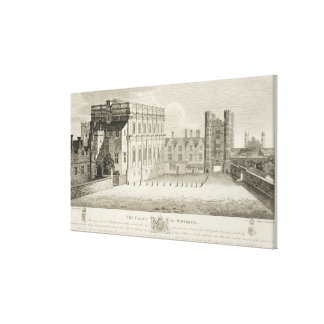 The Palace of Whitehall, from a drawing in the Pep Canvas Print