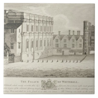 The Palace of Whitehall, from a drawing in the Pep Large Square Tile