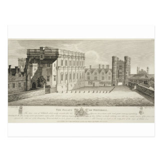 The Palace of Whitehall, from a drawing in the Pep Postcard