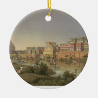 The Palaces of Nimrud Restored, a reconstruction o Christmas Ornament