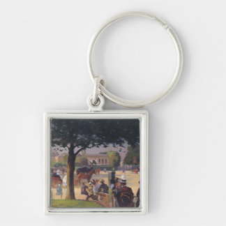 The Palais Rose, Paris Silver-Colored Square Key Ring