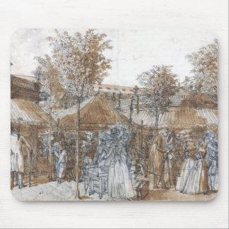 The Palais Royal Garden Walk in 1787 Mouse Mat