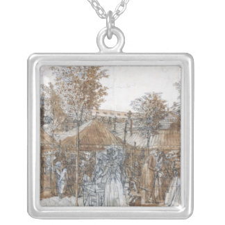 The Palais Royal Garden Walk in 1787 Silver Plated Necklace