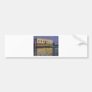 The Palazzo Ducale 2 by Claude Monet Bumper Sticker