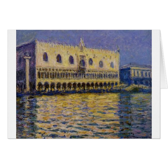 The Palazzo Ducale 2 by Claude Monet Card