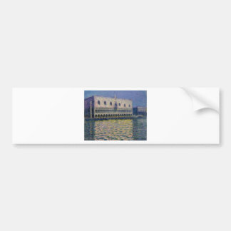 The Palazzo Ducale by Claude Monet Bumper Sticker