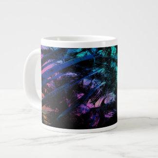The Palm Trees Under the Seaside Rainbow Large Coffee Mug